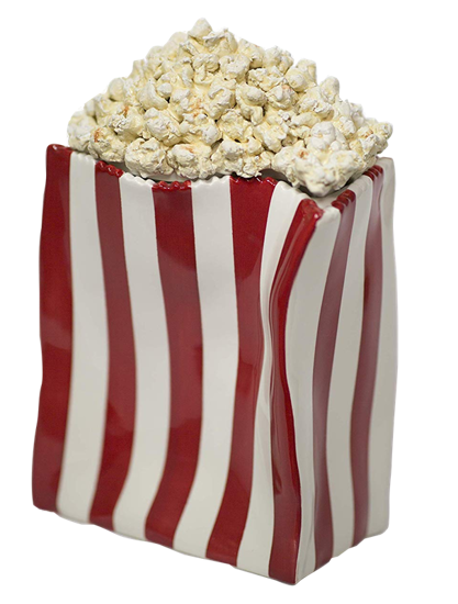 Picture of Popcorn University Ceramic Popcorn Container w/Lid