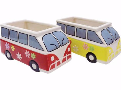 Picture of 2 Asst Ceramic VW Bus Planter