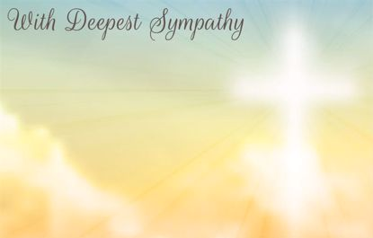 Picture of Deepest Sympathy Enclosure Card (PACK 50)