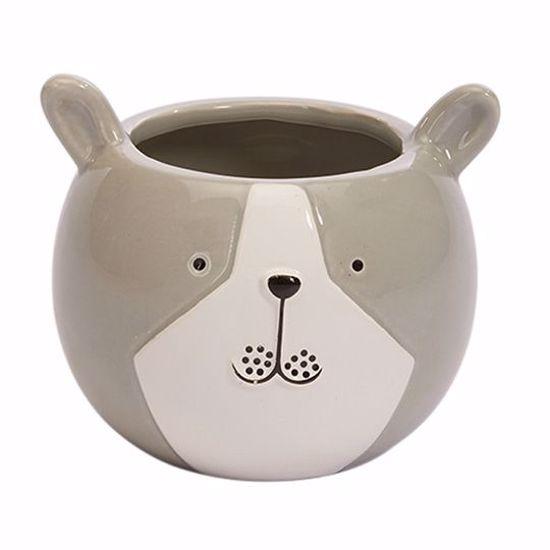 Picture of Ceramic Bulldog Planter