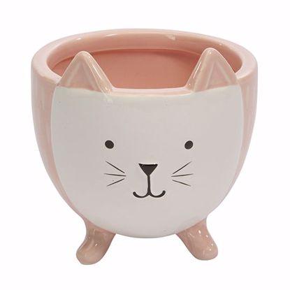 Picture of Ceramic Pink Kitten Planter