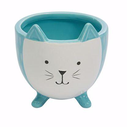 Picture of Ceramic Blue Kitten Planter