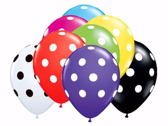 Picture of Latex Polka Dot Balloons