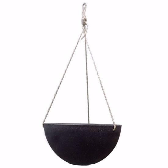Picture of CeraMix Nova Hanging Pot - Blackwash