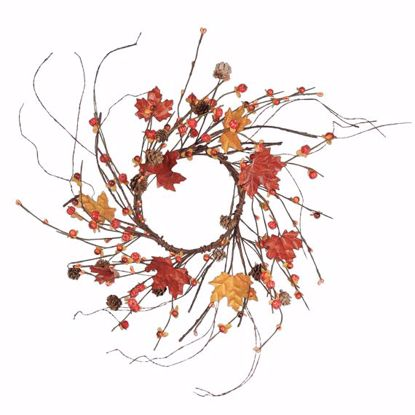 """Picture of 14"""" Maple Candle Wreath"""