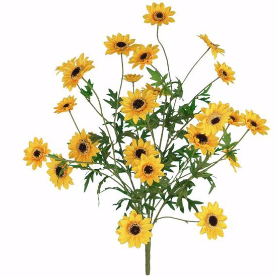 """Picture of Yellow Sunny Flower Bush (5 Stems, 25"""")"""