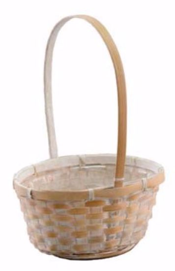 """Picture of 7"""" Whitewashed Oval Birthday Basket"""