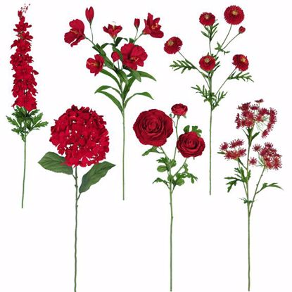 """Picture of Red Stem Assortment (Bouquet in a Box)  (24 Stems, 25"""")"""