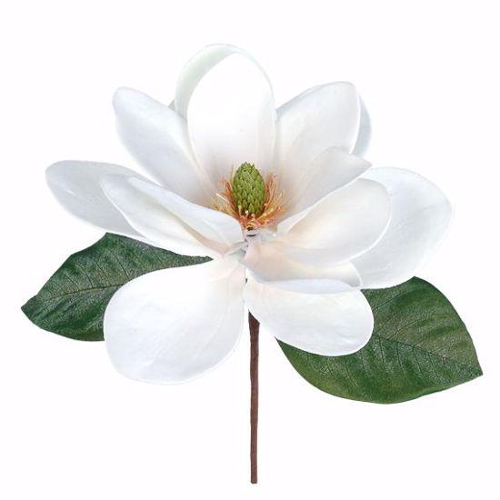 """Picture of White Magnolia Pick (11"""")"""