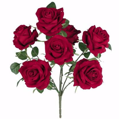 """Picture of Red Royal Rose  Bush (6 Stems, 18"""")"""