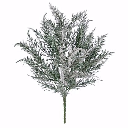 "Picture of Evergreen Bush-Flocked Cedar (6 Stems, 18"")"