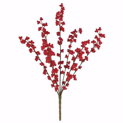 """Picture of Red Berry Bush (18"""", Plastic)"""