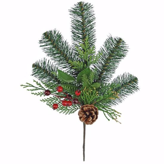 """Picture of Evergreen Spray-Mixed Forest Pine (Plastic, 15"""")"""