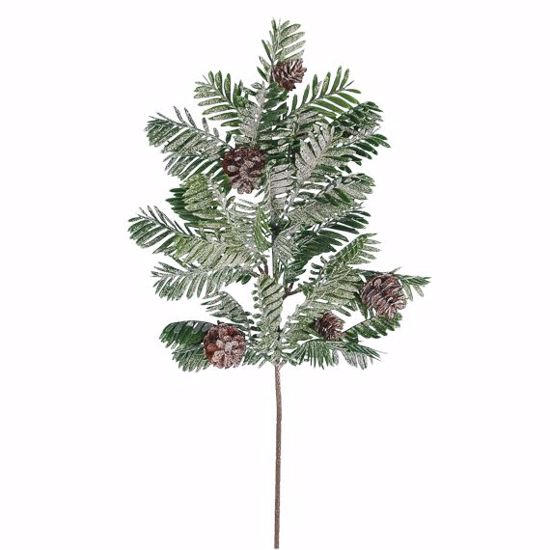 """Picture of 19"""" Plastic Frosty Pine Flocked/Glitter Spray"""