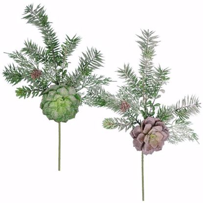 "Picture of 16"" Plastic Winter Succulent Spray - 2 Assorted"