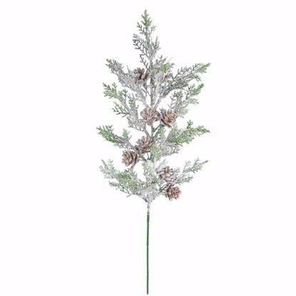 "Picture of Evergreen Spray-Snowy Cedar (20"")"