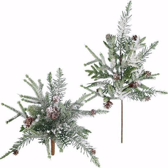 """Picture of Evergreen Spray-2 Assorted-Flocked Norfolk Pine (Plastic, 11""""-22"""")"""