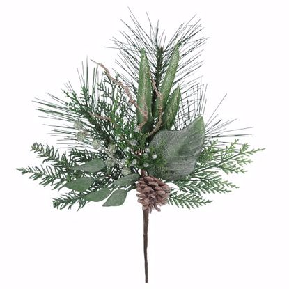 "Picture of 18"" Winter Natural Plastic Pine Cone Spray"