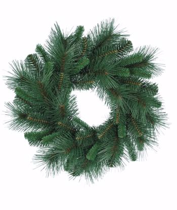 """Picture of Evergreen Wreath-Mixed Pine (18"""")"""