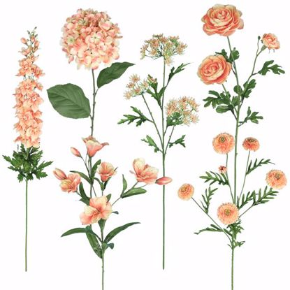 """Picture of 25""""-36"""" Peach Bouquet in a Box - 6 Assorted"""
