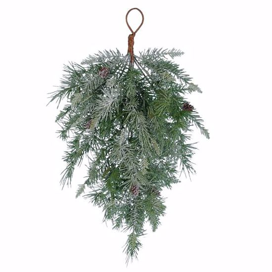 """Picture of Evergreen Teardrop-Flocked & Frosty Mix (23"""")"""