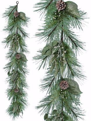 "Picture of Festive Winter Garland-Pinecones, Magnolia Leaves, Twigs (60"", Plastic)"