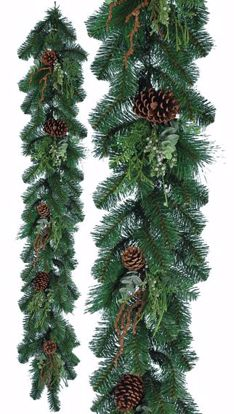 "Picture of Festive Winter Garland-Pinecones & Berries (60"", Plastic)"