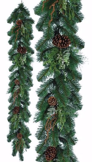 Picture of 5' Plastic Natural Garland Sprigs
