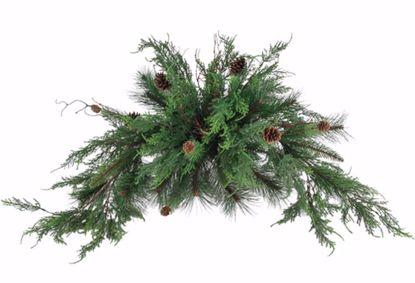"Picture of Festive Winter Super Bush-Cedar Pine with Natural Pinecones (19"", Plastic)"