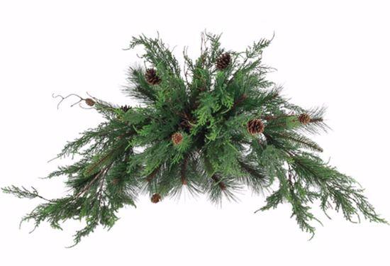 "Picture of 19"" Plastic Super Cedar Pine Bush w/Natural Pine Cones"