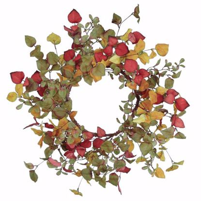 """Picture of Autumn Leaves Birch Wreath (20"""")"""
