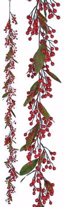 """Picture of Red Berry Garland (72"""", Plastic Berries)"""
