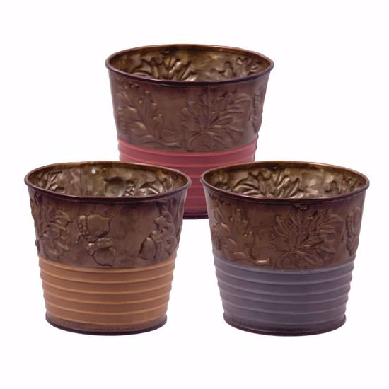 """Picture of 4.25"""" Metal Pot Covers - 3 Assorted"""