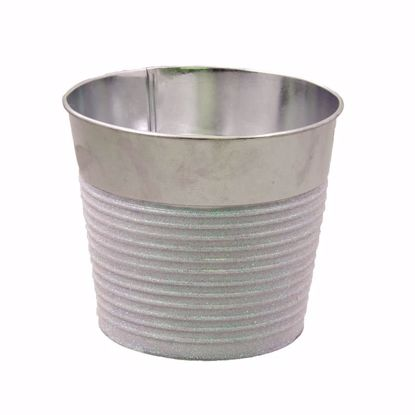 """Picture of Metal Pot Cover with Glitter 4.75"""""""