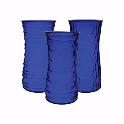 "Picture of Syndicate Sales  8.5"" Rose Vase - Cobalt (3 Assorted Styles)"