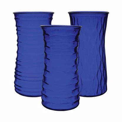 "Picture of Syndicate Sales 9.75"" Rose Vase - Cobalt (3 Assorted Styles)"