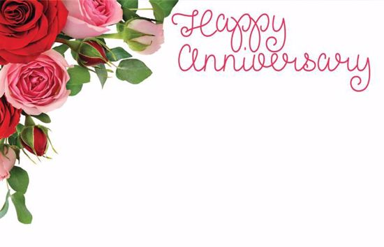 Picture of Happy Anniversary Enclosure Card (PACK 50)