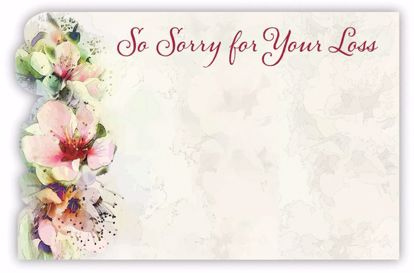 Picture of So Sorry For Your Loss Enclosure Card (PACK 50)