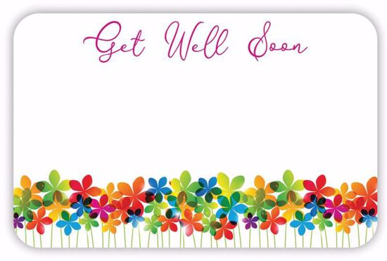 Picture of Get Well Soon Enclosure Card (PACK 50)