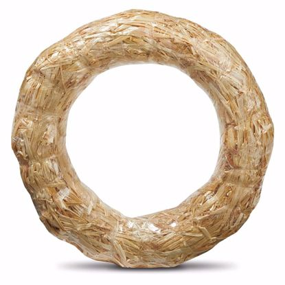 """Picture of 10"""" Straw Wreath Wrapped Clear"""