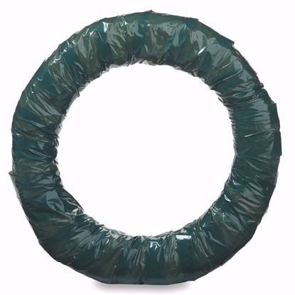 """Picture of 10"""" Straw Wreath Wrapped Green"""