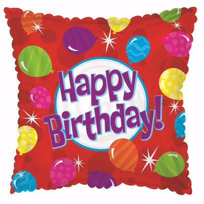 "Picture of 17"" 2-Sided Foil Balloon: HBD Bright Balloons"