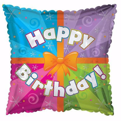 "Picture of 17"" 2-Sided Foil Balloon: Colorful Present"