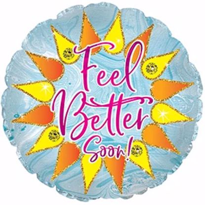 "Picture of 17"" 2-Sided Foil Balloon: Feel Better Sparkle"