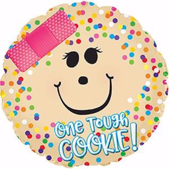 """Picture of 17"""" 2-Sided Foil Balloon: One Tough Cookie"""