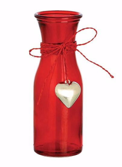 "Picture of 6.75"" Enzo Vase with Heart Charm"