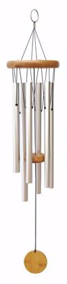 """Picture of 29"""" Plain Silver Wind Chime"""