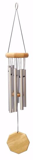 """Picture of 21"""" Hand Tuned Silver Wind Chime"""