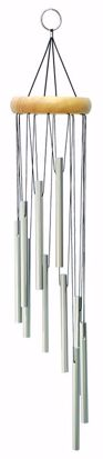 """Picture of 21"""" Spiral Silver Wind Chime"""