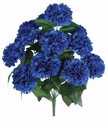 """Picture of 20"""" Blue Carnation Bush x 12"""